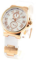 Женские наручные белые часы Ulysse Nardin