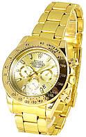 Мужские наручные кварцевые золотые часы Rolex Daytona