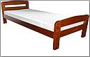 Ліжко односпальні з натурального дерева в спальню/дитячу Октавія 2 (Бук)80*190Неомеблі, фото 2