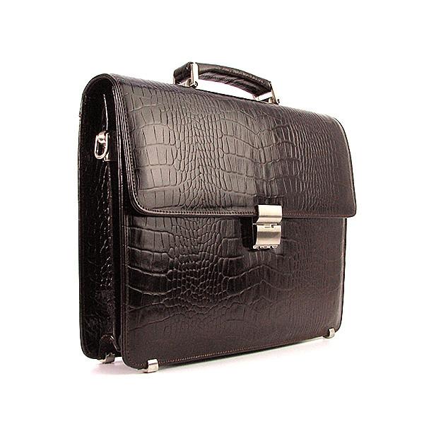 3b40cff184a6 Портфель кожаный мужской классический жесткий кофе Desisan 2005-19 Турция -  Интернет-магазин