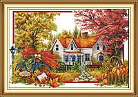 Осенний пейзаж Набор для вышивки крестом 14СТ
