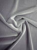 Велюр плотный серебристый, фото 1