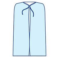"""Накидка для посетителя на завязках длинна 110см.""""Славна"""" (спанбонд) стерильная"""