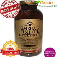 Solgar, Омега-3 рыбий жир концентрат, 240 капсул, купить, цена, отзывы