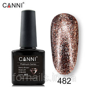 Гель-лак Canni Platinum №482, 7.3 мл