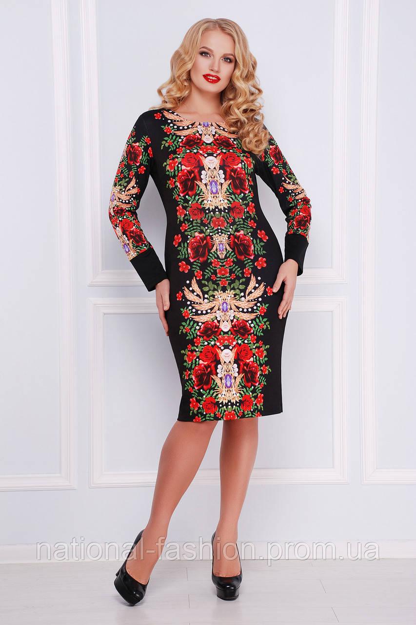 """Нарядное женское платье """"Jewelry rose"""" (p.XL-3XL)"""
