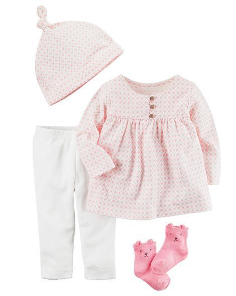 Комплект одежды для новорожденной девочки с шапочкой и носочками Carters -  Интернет-магазин детской одежды 94399927a20