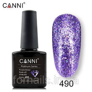 Гель-лак Canni Platinum №490, 7.3 мл