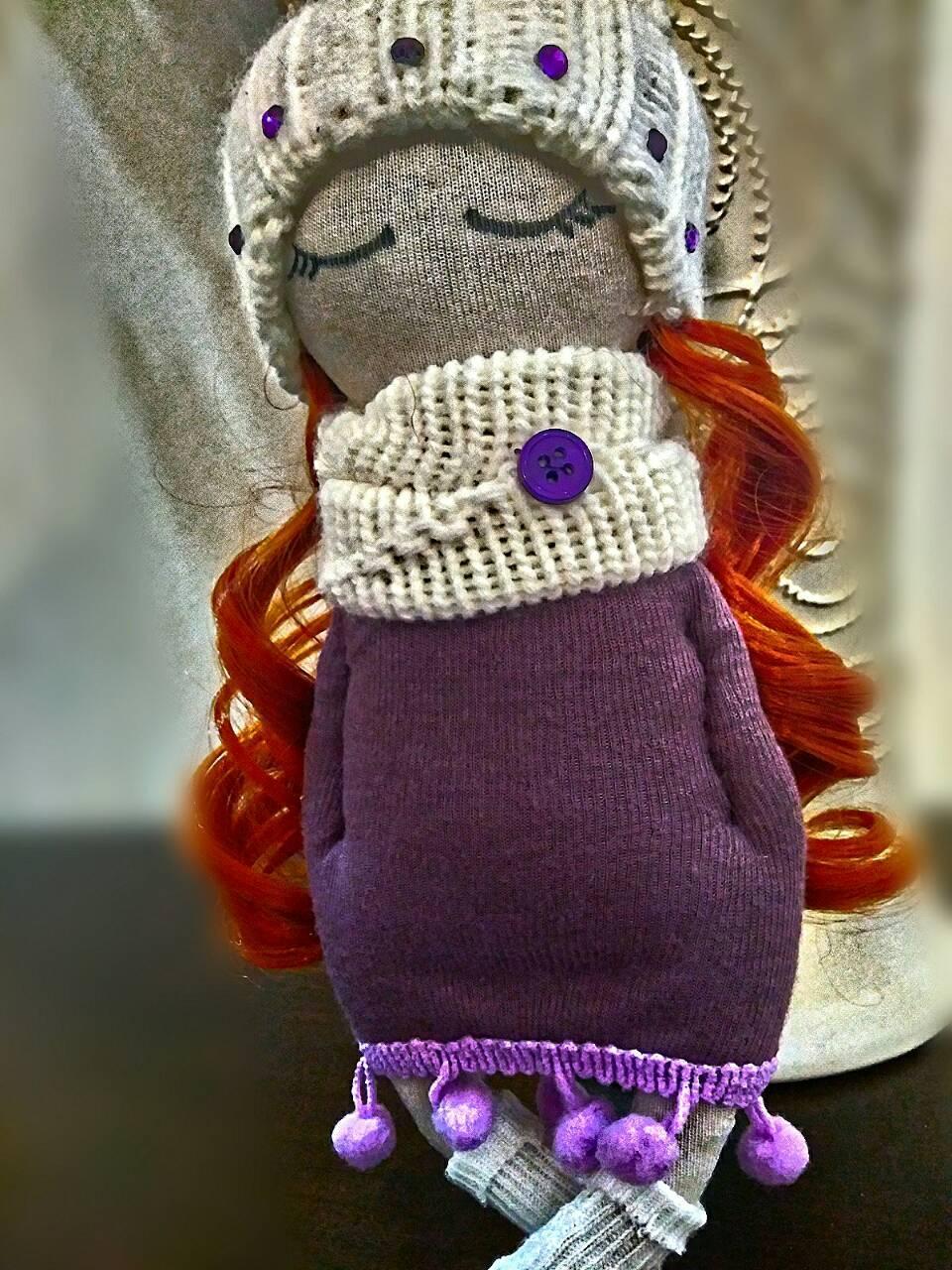 Авторская работа куколка сплюшка модница