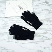 Перчатки мужские для сенсорных экранов Gloves Touch Idiman black