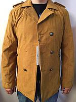 Мужская куртка- пиджак бежевая