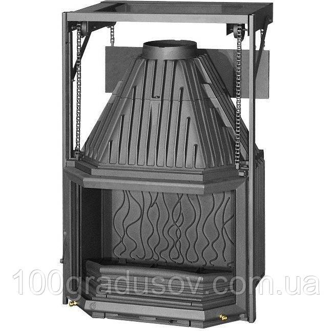 Каминная топка INVICTA 700 PRISMATIQUE RELEVABLE с подьемной дверцей (14 кВт)