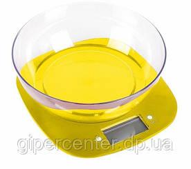 Кухонные электронные весы MAGIO MG-290 до 5 кг, точность 1 г, желтый