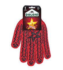 Рабочие перчатки трикотажные с ПВХ 7 класс Doloni Звезда 4040