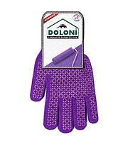 Рабочие перчатки трикотажные с ПВХ 13 класс Doloni Декор 4120 (4112)