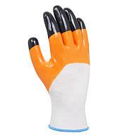 Рабочие перчатки трикотажные с нитриловым покрытием неполный облив Doloni 4564