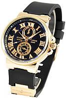 Женские наручные черные часы часы Ulysse Nardin