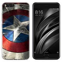 Чехол-накладка TPU Image Captain America для Xiaomi Mi 6