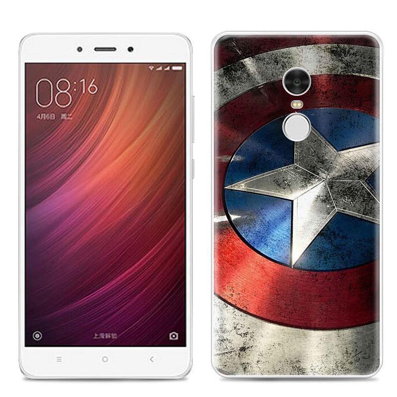 Чехол-накладка TPU Image Captain America для Xiaomi Redmi Note 4X