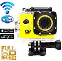 Экшн камера SJ7000B wi-fi + Аквабокс +крепления аналог Go Pro