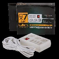 Сетевой фильтр,LP-X7, 5m,Белый