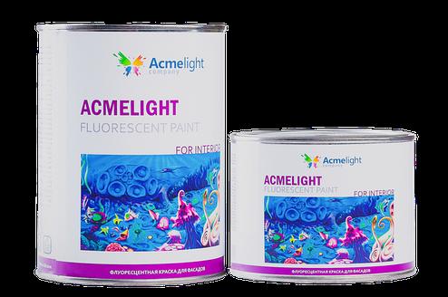 Флуоресцентная краска для стен Acmelight Fluorescent paint for Interior 0,25л, 0,5л, 1л, фото 2