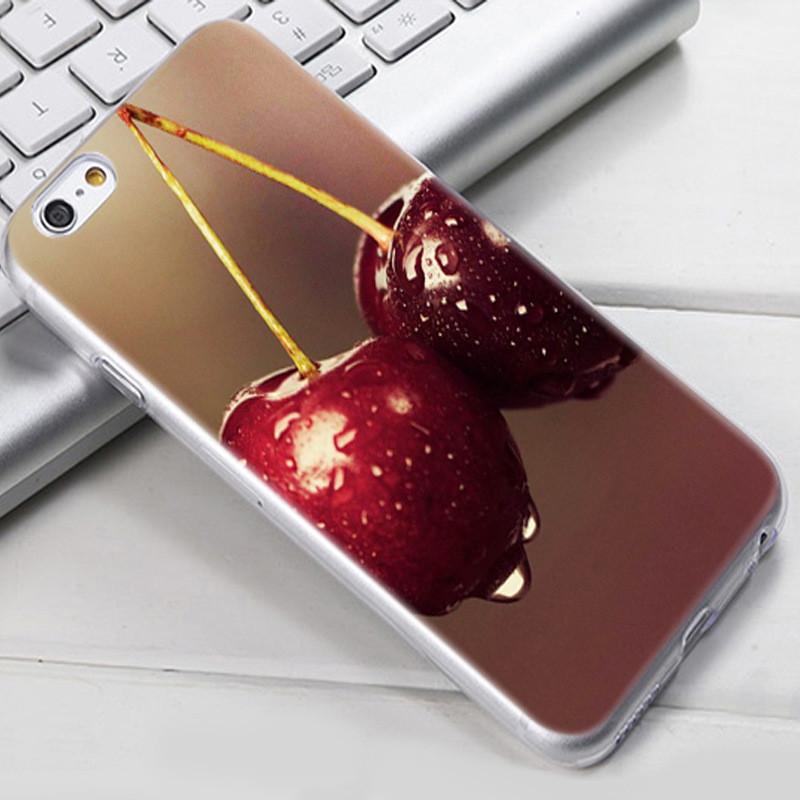 Чехол-накладка TPU Image Cherry для iPhone 6 Plus/6S Plus