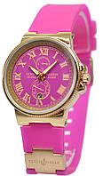 Женские наручные розовые часы Ulysse Nardin