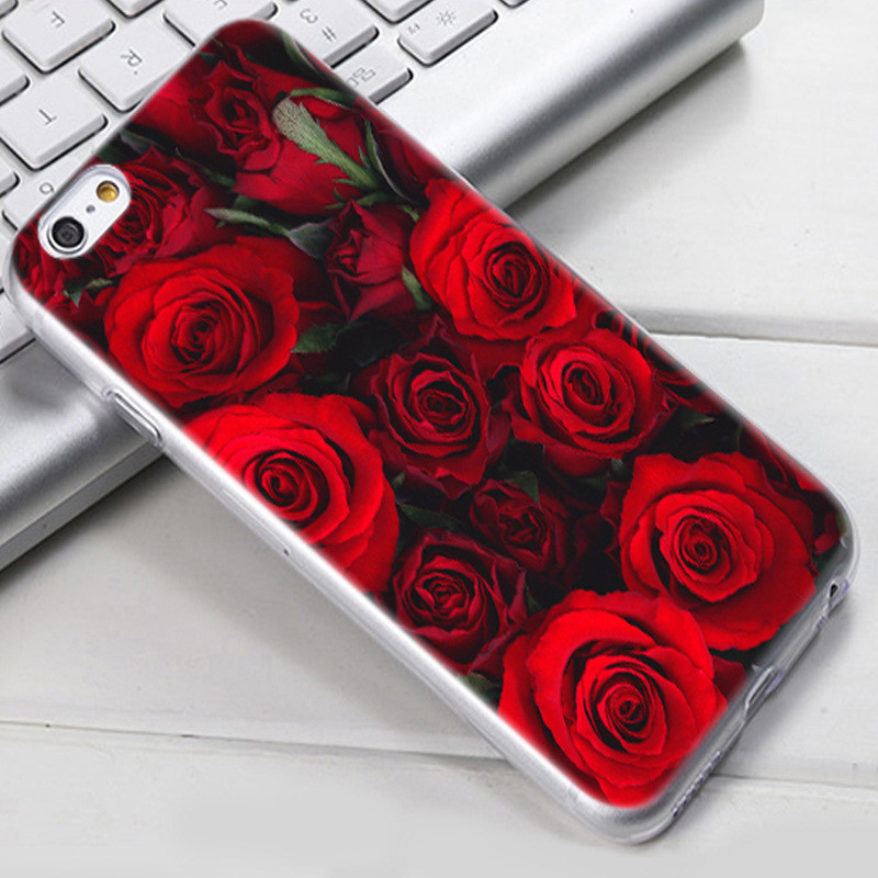 Чехол-накладка TPU Image Roses для iPhone 6/6S