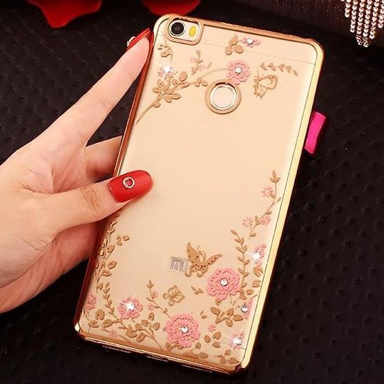 Чехол силиконовый TPU Glaze gold для Xiaomi Mi Max
