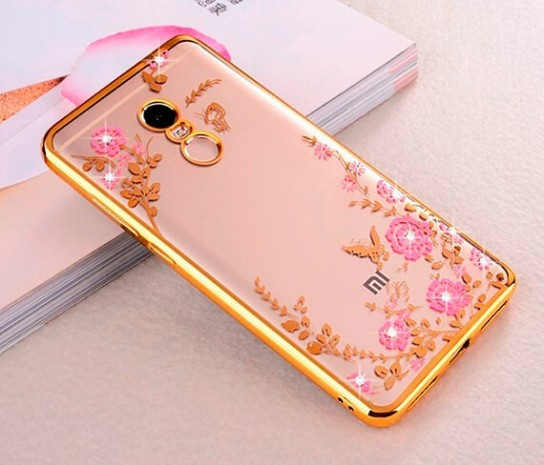 Чехол силиконовый TPU Glaze gold для Xiaomi Redmi Note 4X