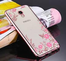 Чехол силиконовый TPU Glaze rose gold для Meizu M5