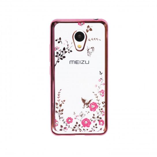 Чехол силиконовый TPU Glaze rose gold для Meizu Pro 6 Plus