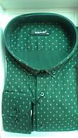 Мужская рубашка большого размера DERGI с длинным рукавом темно-зеленая Одесса