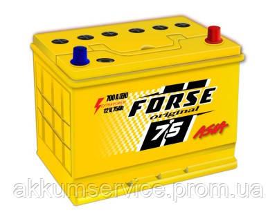 Аккумулятор автомобильный FORSE ORIGINAL ASIA 75AH R+ 700A