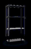 Стеллаж REK 3 на болтовом соединении ЧЕРНЫЙ (1500х750х300) 4 металлические полок