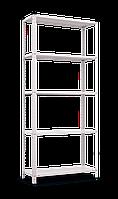 Стеллаж REK 2 на болтовом соединении БЕЛЫЙ (1700х750х300) 5 металлических полок  полочный