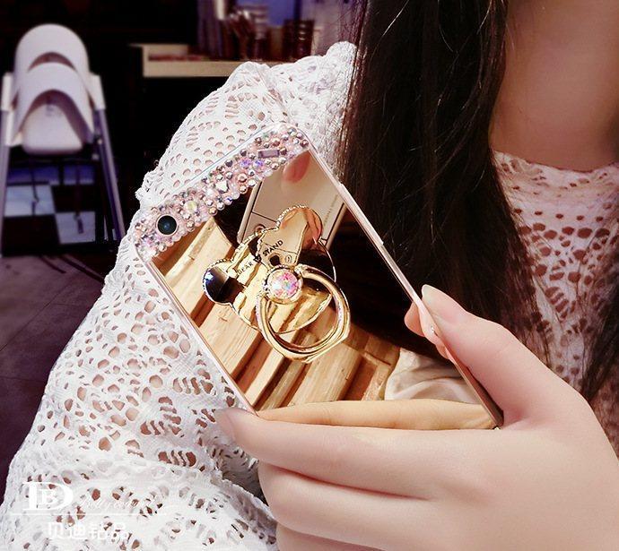 Чехол-накладка TPU Luxury Bear gold для Samsung Galaxy S6/G920