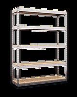 Стеллаж 2160х1200х600, 5 полок МДФ/ДСП, 300 кг/полка, арт.301 полочный складской  полочный