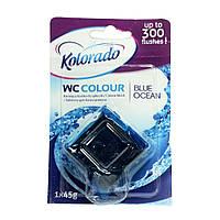 Таблетка для бачка унитаза WC COLOUR 1 шт. blue ocean 45г