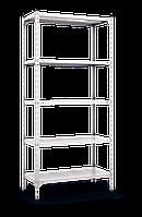 Стеллаж 2520х1200х400, 5 метал. полок, 200 кг/полка, арт.3040 в гараж офис дом склад балкон дачу арх