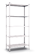 Стеллаж 2520х1200х600, 5 метал. полок, 200 кг/полка, арт.3060 в гараж офис дом склад балкон дачу