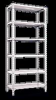 Стеллаж 3600х1200х500, 6 метал. полок, 200 кг/полка, арт.3100 в гараж офис дом склад балкон дачу