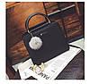 Женская сумка с ручками и плечевым ремешком черная из экокожи опт