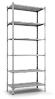Стеллаж 2500х1200х600, 6 метал. полок, 150 кг/полка, арт.160