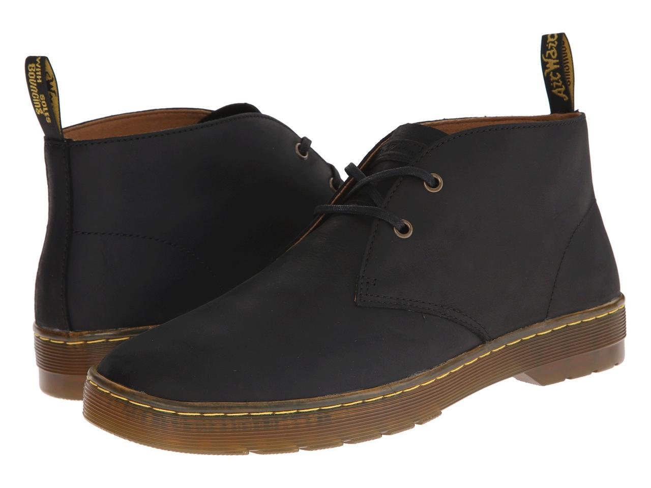 Ботинки Сапоги (Оригинал) Dr. Martens Cabrillo Black Wyoming - TopUSA