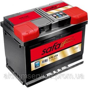 Акумулятор автомобільний Safa 63AH R+ 610A