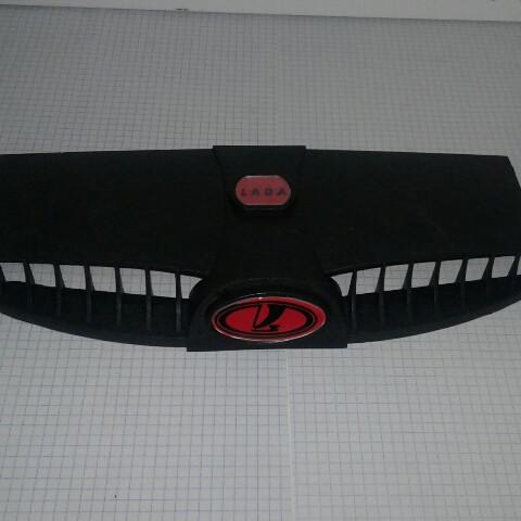 Дефлектор капота воздухозаборник пара 2 шт ВАЗ 2101 2102 2103 2104 2105 2106 2107 Inter Plast красный значок