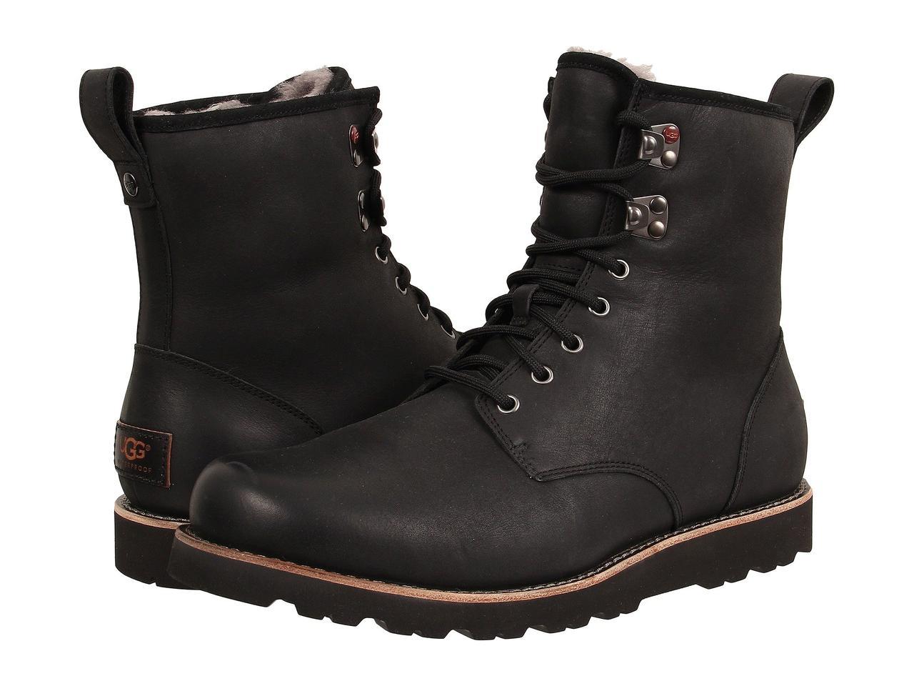 Ботинки/Сапоги (Оригинал) UGG Hannen TL Black Leather