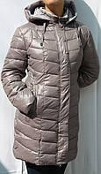 Женские зимние куртки-полупальто большие размеры